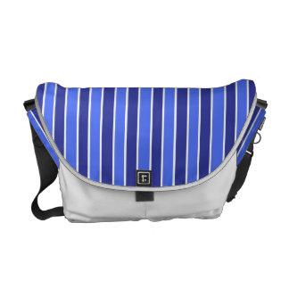Blue Stripe Rickshaw Messenger Bag