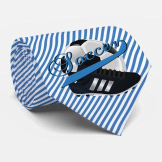 Blue Stripe Soccer Tie