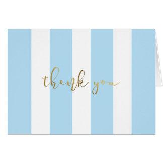 Blue Stripe With Script Card