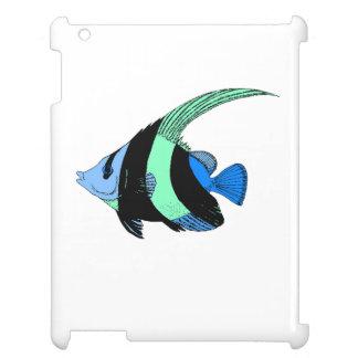 Blue Striped Angel Fish iPad Covers