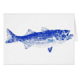 blue striped bass card