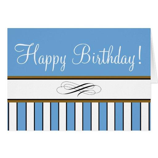 "Blue Striped ""Birthday Card"""