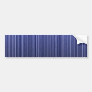 Blue Striped Bumper Sticker