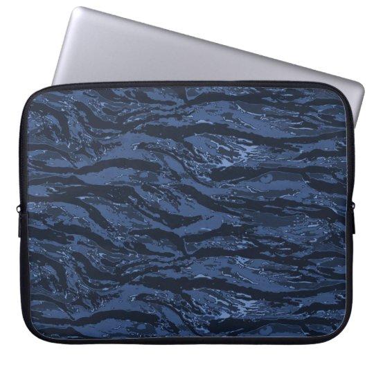 Blue Striped Camo Laptop Sleeve