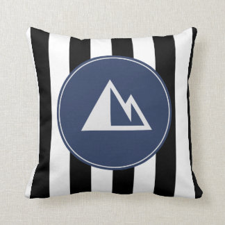 Blue Striped Mountain Bum Pillow