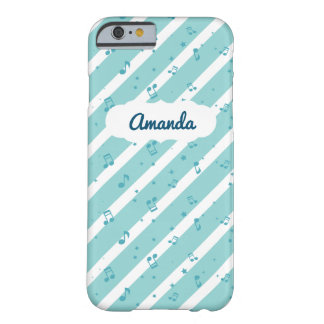 Blue Striped Music Notes iPhone 6/6s Case