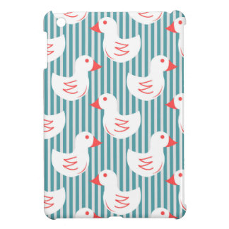 Blue Striped Pattern With White Ducks iPad Mini Case