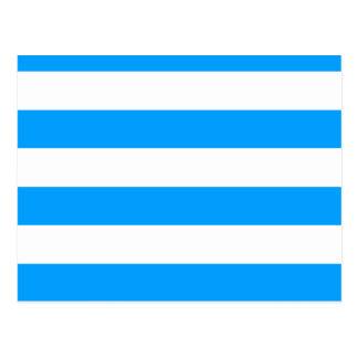 Blue striped postcard