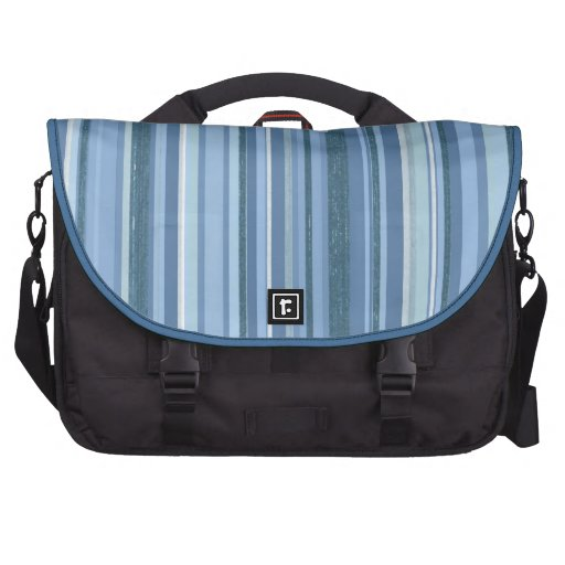 Blue-Striped Rickshaw Laptop Commuter Bag