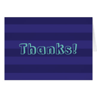 Blue Striped Thank You Notes Greeting Card