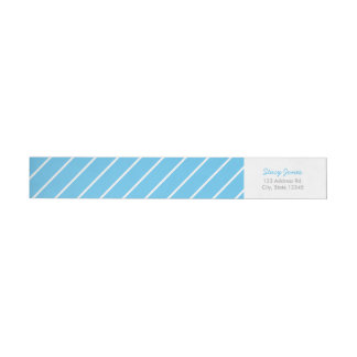 Blue Striped Wraparound Address Labels Wraparound Return Address Label