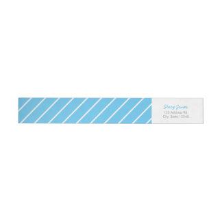 Blue Striped Wraparound Address Labels Wraparound Return Address Label