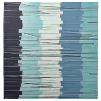 Blue Stripes Abstract Napkin