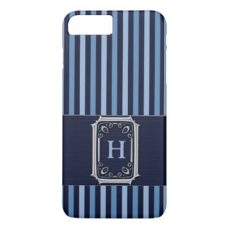 Blue Stripes and Buckle Style Monogram iPhone 7 Plus Case