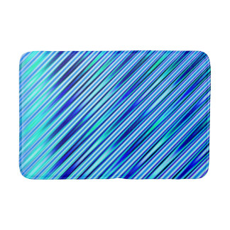 Blue Stripes Bath Mat