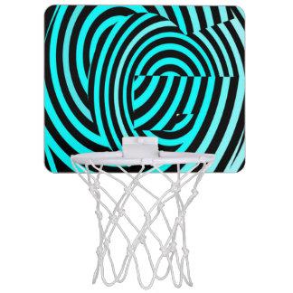 Blue Stripes Crazy Element Mini Basketball Hoop