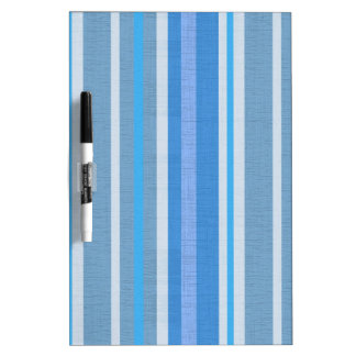 Blue Stripes Dry Erase Board