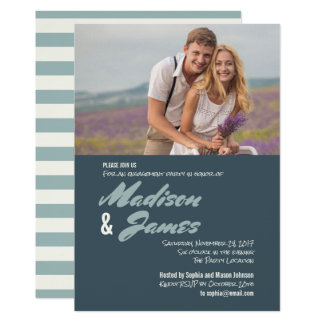 Blue Stripes | Engagement Party Invitations