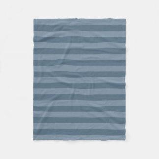 Blue Stripes Fleece Blanket