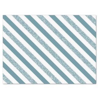 Blue Stripes Glitter Tissue Paper