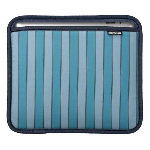 blue stripes iPad sleeve