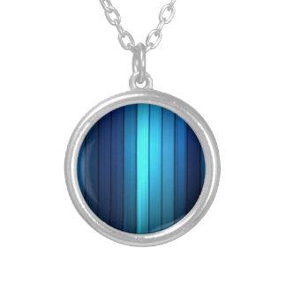 blue stripes pendant