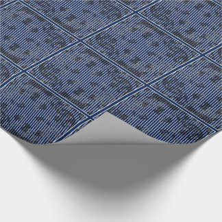 Blue stripes on white texture tiled paper