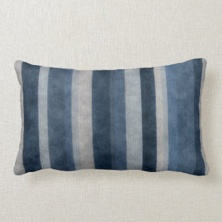 Blue Stripes Pattern American MoJo Pillows Cushions
