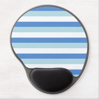 Blue stripes pattern gel mouse pad