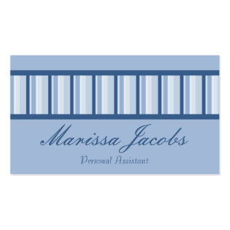 Blue Stripes Personal Assistant Business Card