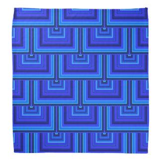 Blue stripes square scales pattern bandana