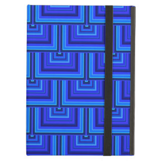 Blue stripes square scales pattern iPad air cover
