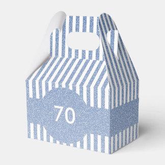Blue Stripes Template Party Favour Boxes