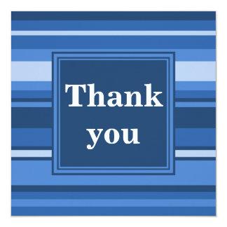 Blue stripes thank you card