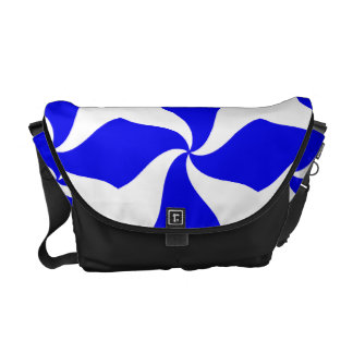 Blue Stripes Urban messenger  Rickshaw Bag Courier Bag