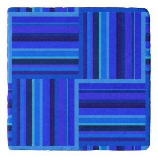 Blue stripes weave pattern trivet