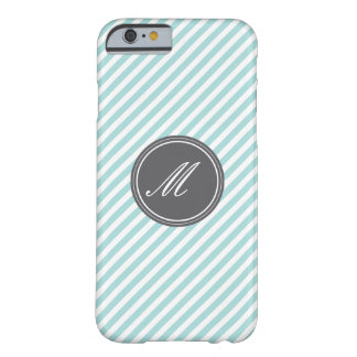 Blue Stripes with Monogram iPhone 6 Case