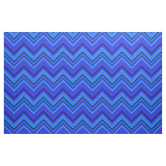 Blue stripes zigzag pattern fabric