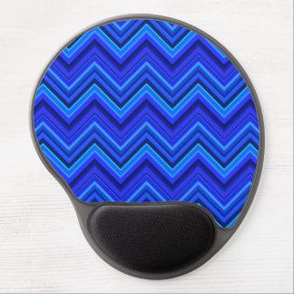 Blue stripes zigzag pattern gel mouse pad