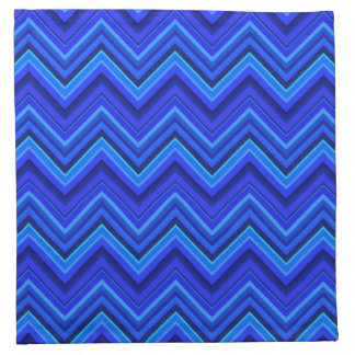 Blue stripes zigzag pattern napkin