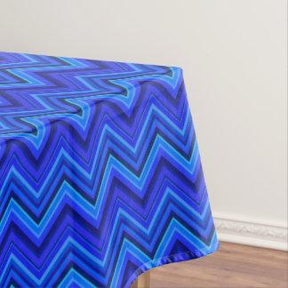 Blue stripes zigzag pattern tablecloth