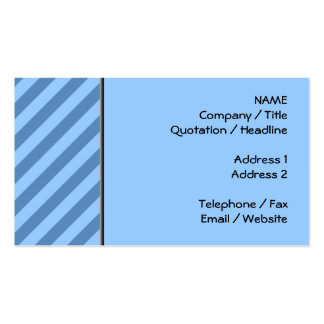 Blue Stripy Pattern. Pack Of Standard Business Cards