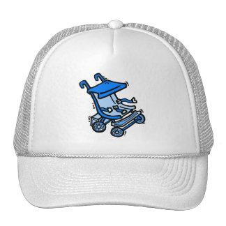 blue stroller cap