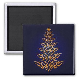 Blue Stylish Christmas Tree magnet