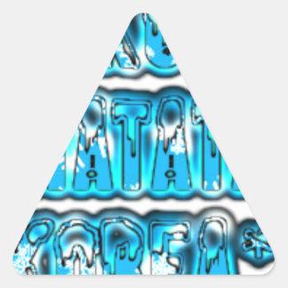 Blue stylish vintage Zombi  Design Hakuna Matata K Triangle Sticker