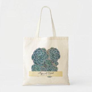Blue Succulents Wedding Welcome Favor Bag