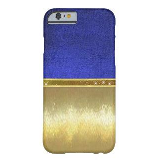 Blue Suede Sparkle Gold Design Case