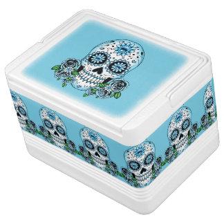Blue Sugar Skull Cooler