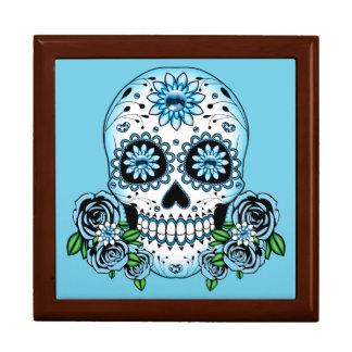 Blue Sugar Skull Gift Box