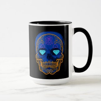 Blue Sugar Skull Mug
